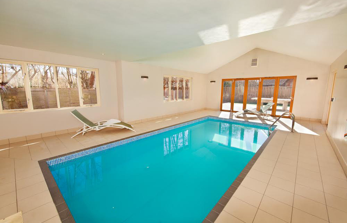 Ramscombe and cockercombe lodge in somerset sleeps 12 for Private indoor swimming pools