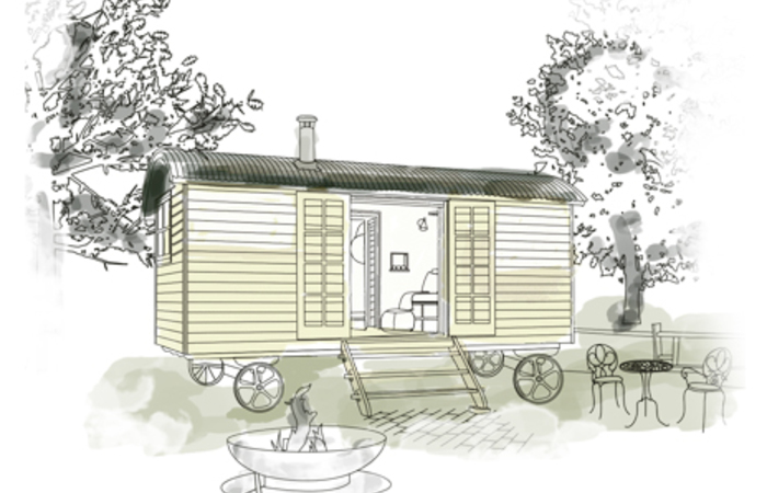 An image of 'Kingates Farm -  Shepherds Hut'